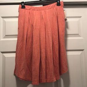Lularoe Madison pleated skirt, pink, Large, BNWT